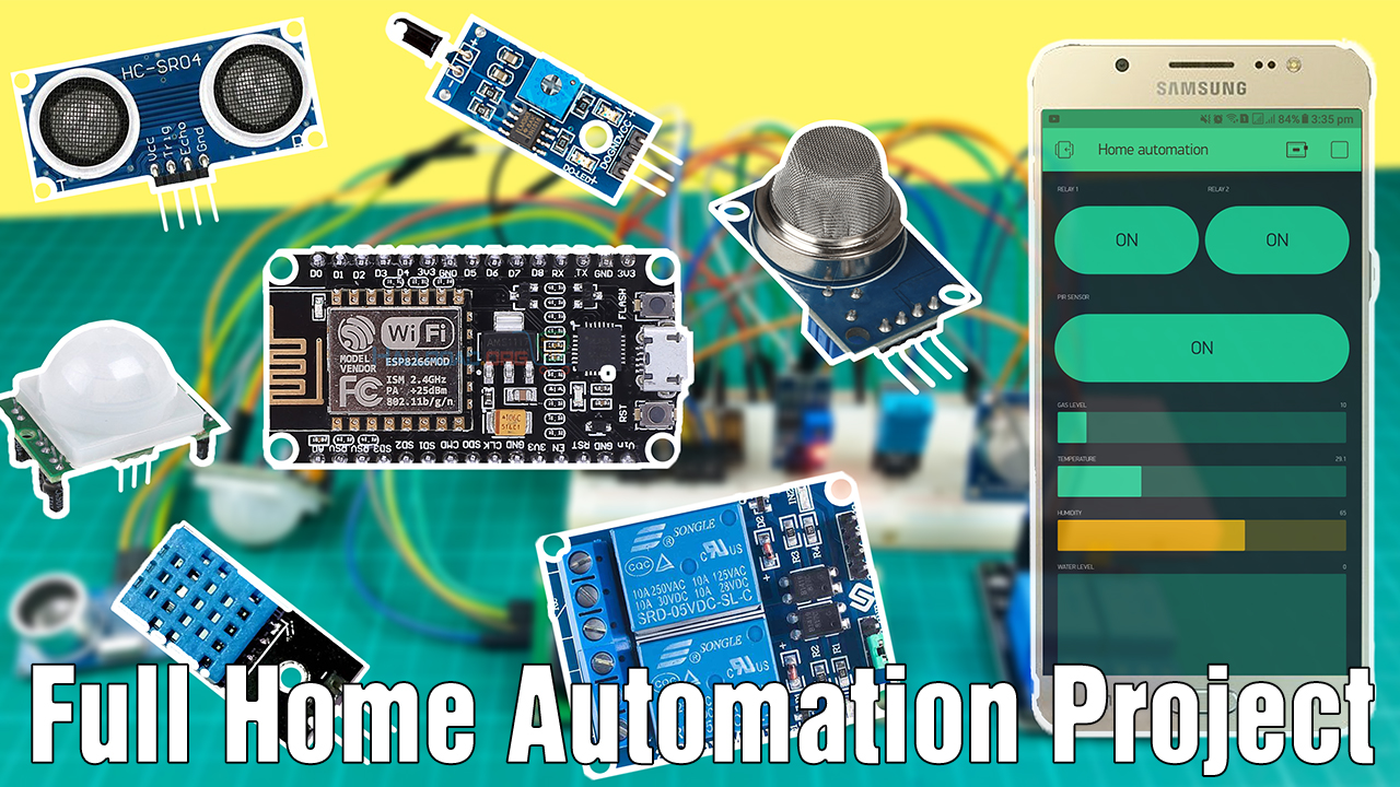 How to make a full home automation system with Nodemcu esp8266 and Blynk app